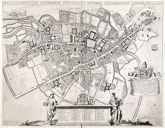 David Loggan's 1688 plan of Cambridge.