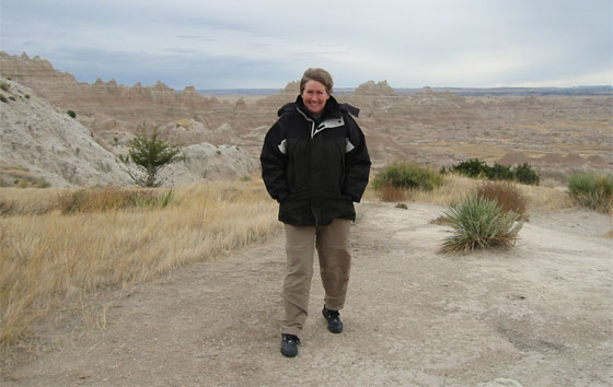 Susanna in the Badlands National Park in South Dakota.