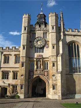 The Clock Tower at Trinity College, originally part of King's Hall.