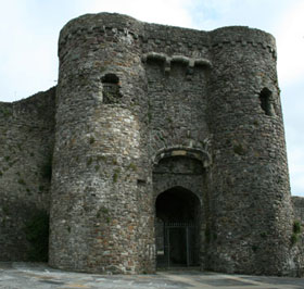 Carmarthen castle's gatehouse